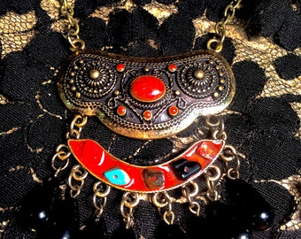 Tribal Boho Bead Necklace