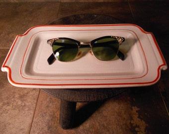 Vintage CatEye Glasses 22k Gold Filled Frames