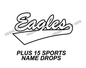 Eagles Swoosh Download Files - SVG, DXF, EPS, Silhouette Studio, Vinyl Cutting Files, Digital Cut Files - Use with Cricut and Silhouette