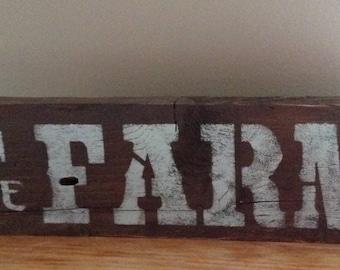 wood sign, Country Home Decor, farm sign, country sign, farm, country farm sign, weathered wood sign, on the farm sign, farm decor, gift