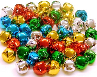 Jingle Bells 15mm Assorted Colours 5 Colours 48 Bells