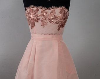 Coral Cupcake Bridesmaid Dress
