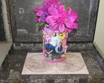 Customized Picture Frame Mason Jar