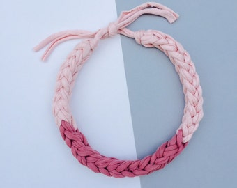 Handmade recycled tricot bohemian necklace