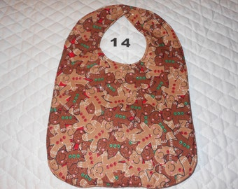 Baby Bib, Quilted, Double Sided