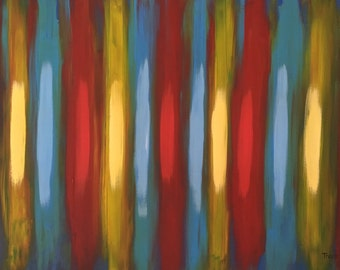 "Primary Rhythm- original acrylic on canvas- 24"" x 36"""