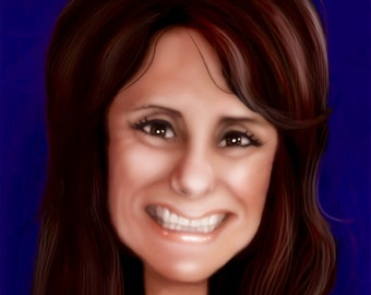 personalized caricature, avatar, digital custom portrait by Ollie.