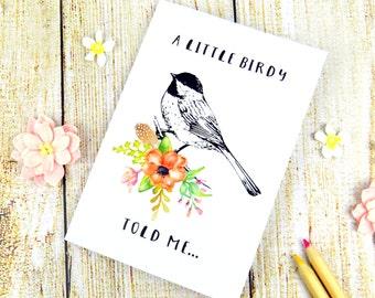 Cute Vintage Bird Notebook Floral Bird Stationary