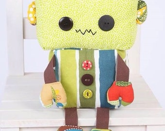 Cute Robot Soft Teddy. Lovely Gift. Handmade  This would be a lovely unique gift.