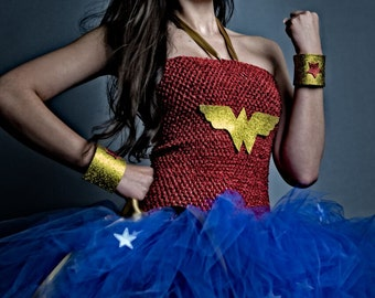 Wonder Woman costume -  wonder woman tutu dress -  superhero costume - tutu dress - DC Comics - Wonder Woman birthday party - tutu