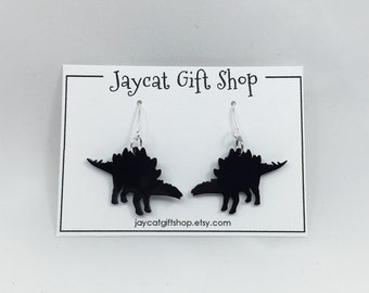 Stegosaurus Earrings, Dinosaur Earrings, Dino Earrings, Geeky Earrings, Nerdy Earrings