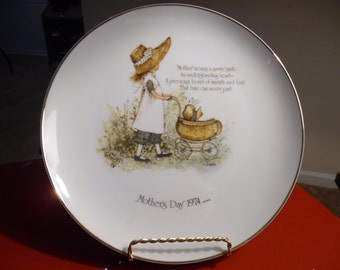 1974 Holly Hobbie Porcelain Mother's Day Plate