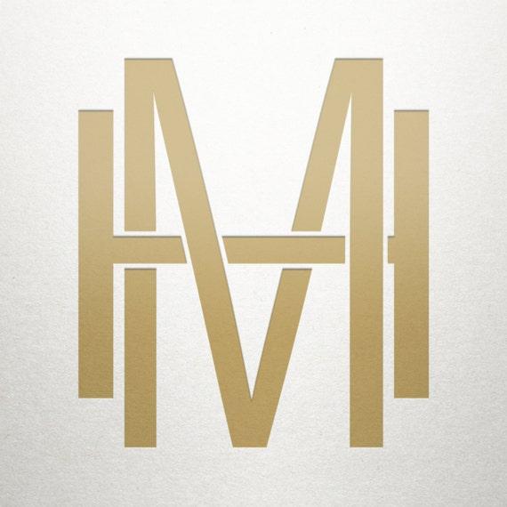 Monogram Mh Letter Logo