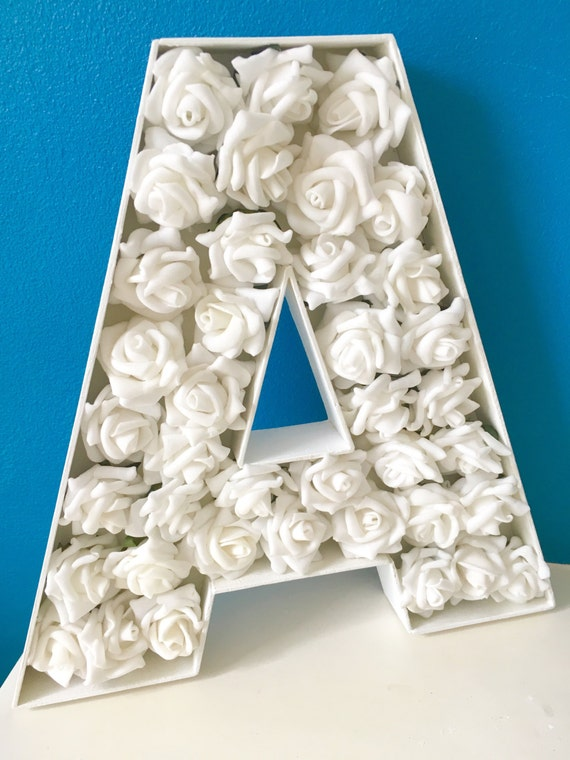 Freestanding large wooden floral letter wedding decor mr and for Large freestanding wooden letters