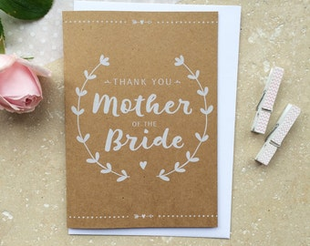 Rustic Mother of the Bride Thank You Card