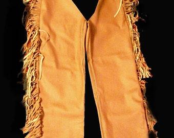 Custom made rendezvous mountain man buckskin leggings