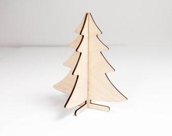 Wooden Christmas tree - Mini Christmas tree - Standing Christmas tree - Tabletop Christmas tree - Christmas ornament - Christmas decoration
