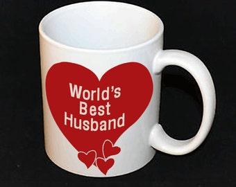Mug - World's Best Husband // Gifts for Him // Valentine's Day