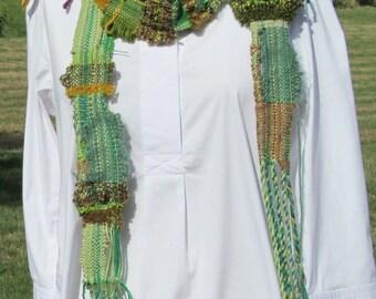 Hand Woven Saori Scarves