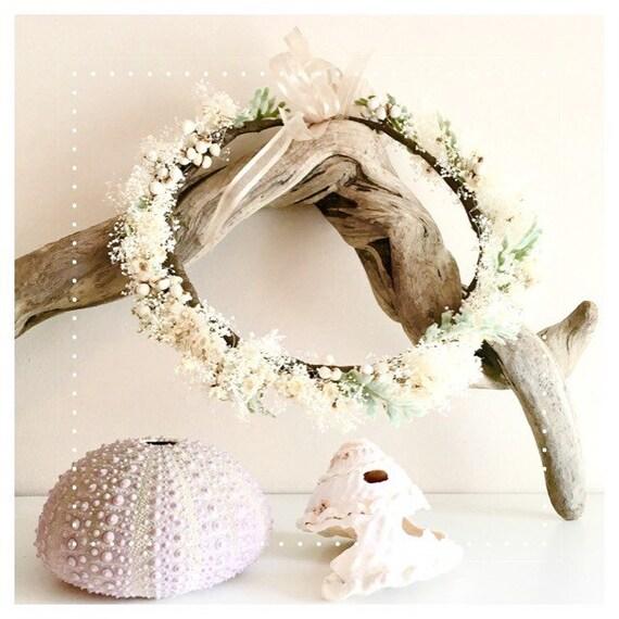 Wedding White Flower Crown: SALE Beach Wedding Flower Crown////Bridesmaids Flower
