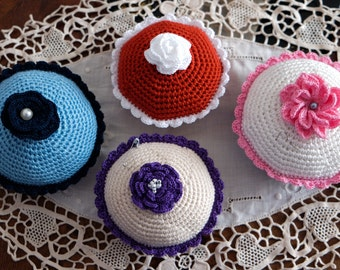 Crochet pincushion/ Handmade pin cushion/ Mothers day gift idea