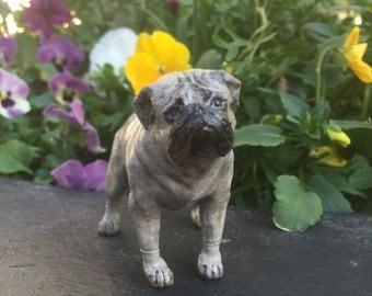 Handpainted Pug Sculpture