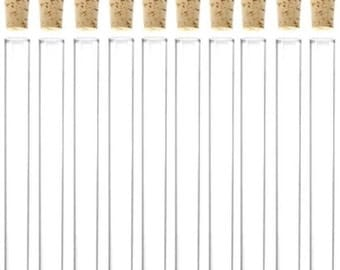 50 x 7ml Plastic Test Tubes With Corks / Party Favours