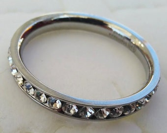Sterling Silver Birth RhineStone Ring and Toe Ring