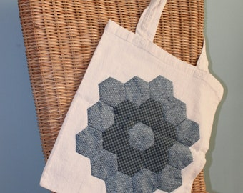 Patchwork Canvas Shopping Bag