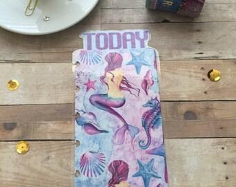 Planner Bookmark/mermaid/watercolors/today