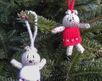 Hand Knitted Christmas Bears