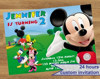 Mickey Mouse Invitation, Mickey Mouse party invitation, Mickey Mouse Printable invitation, Mickey Mouse party invite, Mickey Mouse birthday