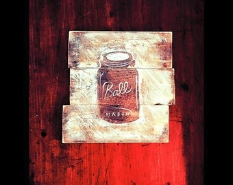 """Our """"Desk Charm"""" Wooden 10x10"""" Painting"""