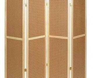 5ft Four Panel Pegboard Display: Vendor Booth