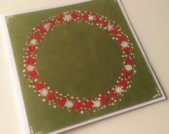 Hand Painted Notelets; Folk Art Notelets; Folk Art Blank Cards; Set of 6 Blank Cards