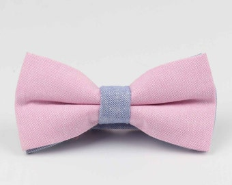 Bowstie - Hand made bowtie - Pink & Lilac