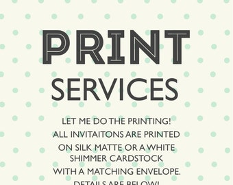 Print Services - Complete Sets