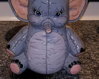 Ceramic Elephant Cookie Jar