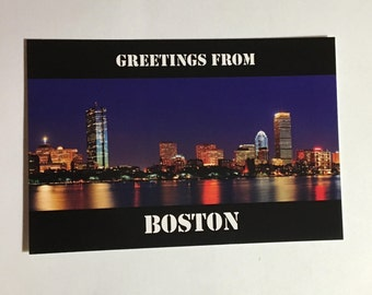 3 Boston/Cambridge Combo Post Cards from Hosts to Airbnb Guests