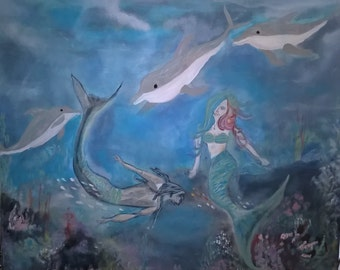 The Mermaid, Original Painting
