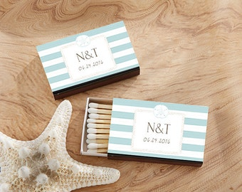 200 Personalized Beach Theme Matchboxes