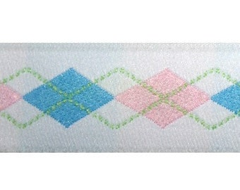 White, Pink, and Blue Argyle Jacquard (04-078-AR-095)