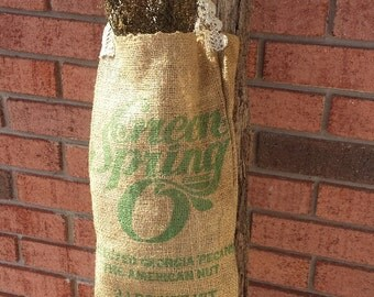 Burlap Sack with Sweet Annie