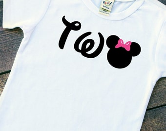little girl birthday shirt minnie mouse personalized tshirt