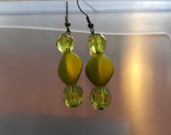 peridot colored earrings
