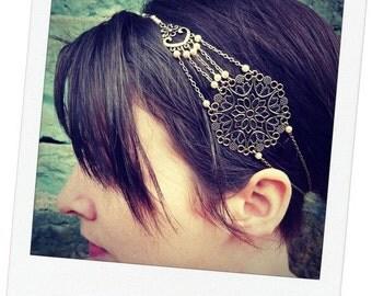 headband wedding, jewel of head vintage Pearl ivory