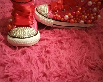 Elmo Inspired Character Bling/Bedazzled  Shoes