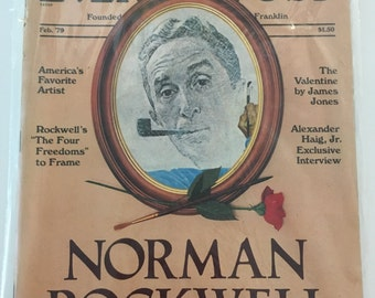 Vintage Saturday Evening Post Magazine February 1979 Norman Rockwell In Lovimg Memory Issue America's Favorite Artist Collectable Magazine
