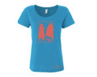 Women's Symplegades T-shirt, Caribbean Blue