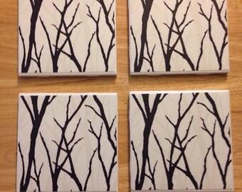 4 Handmade Pattern Coasters